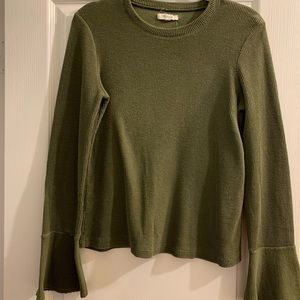 Madewell bell sleeves top, size L